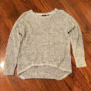 Multi Color White Sweater with Gold Accent